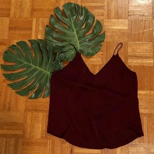 {Express} Downtown Cami in Burgundy